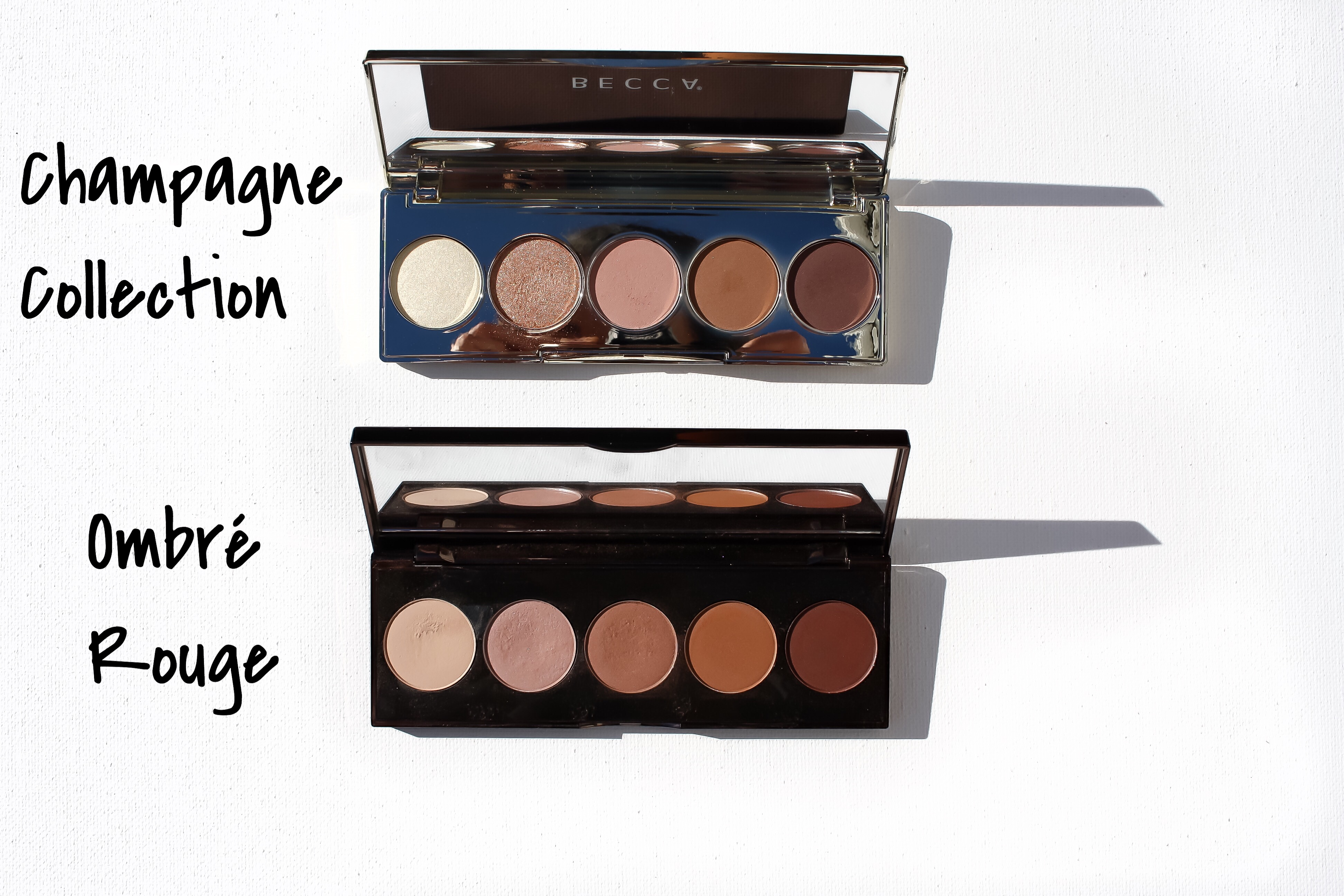 Jaclyn Hill x Becca Champagne Collection Eyeshadow Palette and Ombre Rouge Palette